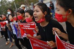 Canons à eau, tirs: la tension monte en Birmanie contre les manifestants anti-coup d'Etat