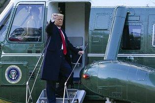 Doland Trump s'envole pour la Floride, une page se tourne