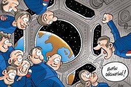 Thomas Pesquet sur l'ISS, loin de la Terre et du Covid