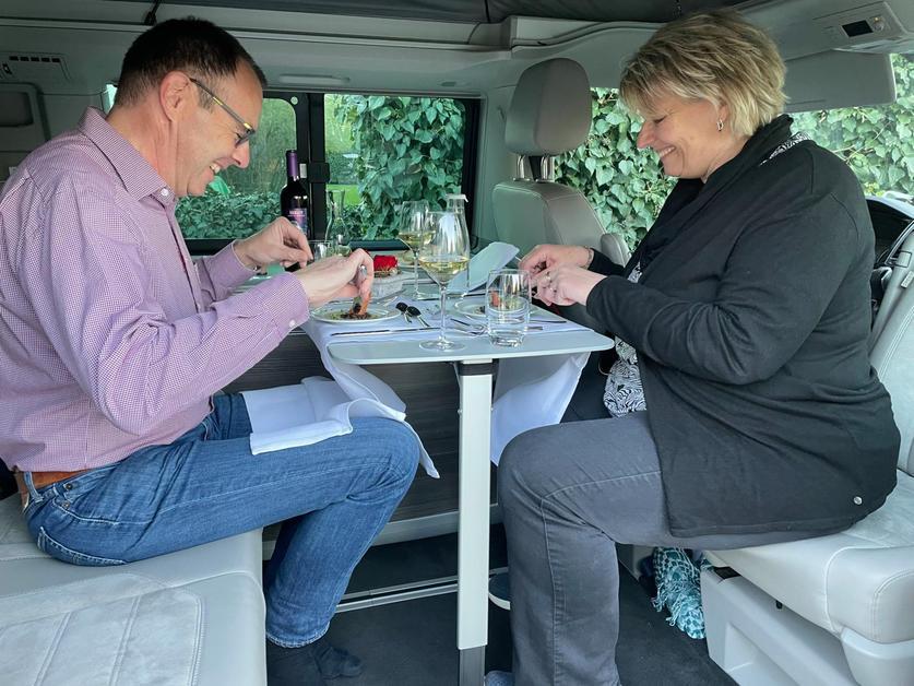 Un repas gastro en camping-car