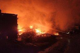 Incendie d'une grange à Cheiry