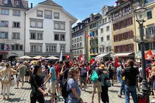 Manifestation contre les mesures anti-Covid à Lucerne