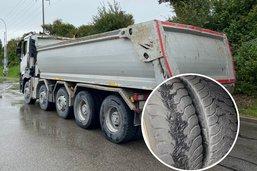 Interpellé avec six pneus lisses