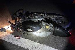 Un motocycliste grièvement blessé